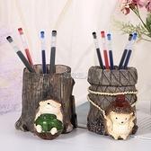 現貨快出 創意節日禮物卡通刺猬筆筒仿真樹脂工藝品桌面擺件裝飾