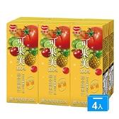 可果美蕃果園100%綜合蔬果汁200ml*24/箱【愛買】