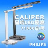 【飛利浦PHILIPS】CALIPER 晶皓LED檯燈 71666(白/黑)