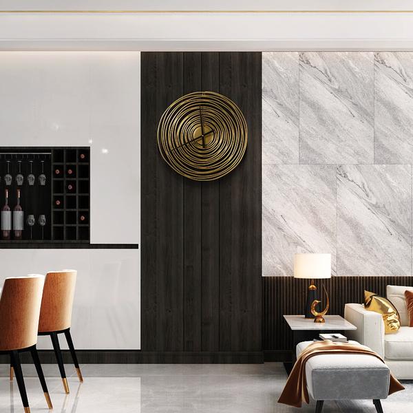壁飾 簡約北歐風年輪客廳輕奢壁掛牆面裝飾玄關壁飾背景牆金屬掛件