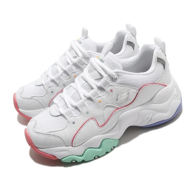 Skechers 休閒鞋 D Lites 3.0-Menlo Park 白 彩色 女鞋 粉嫩色系 運動鞋 【ACS】 149121WMLT