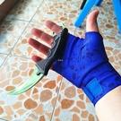 csgo游戲周邊同款運動皮膚手套裹手騎行拳擊護手腕鈷藍骷髏屠夫 快速出貨