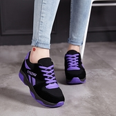 氣墊鞋 2021春秋季新款休閑女學生運動鞋韓版潮氣墊鞋跑步鞋厚底增高女鞋 霓裳細軟