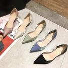 2020年新款夏季小清新百搭網紅法式小跟鞋尖頭細跟高跟單鞋女鞋子