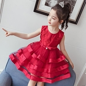 女童公主裙2020新款3歲小童洋氣禮服夏裝女孩蓬蓬紗裙8兒童洋裝 滿天星