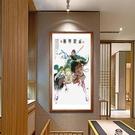 神像關羽絲綢捲軸掛畫