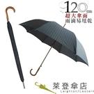 雨傘 萊登傘 超撥水 自動直傘 大傘面120公分 鐵氟龍 Leotern 灰條紋