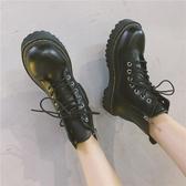 馬丁靴 馬丁靴女2020夏季新款韓版百搭英倫風ins網紅瘦瘦靴平底機車短靴 韓國時尚週