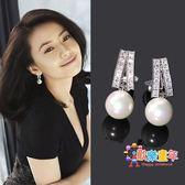 韓國氣質珍珠耳環無耳洞珍珠耳夾女夾式耳釘無洞氣質耳環無痛耳夾