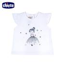 chicco-花瓣公主-立體繡花荷葉袖上衣