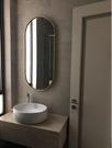 北歐浴室鏡子衛生間鏡子衛浴鏡壁掛鏡橢圓化妝鏡