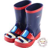 兒童雨鞋hugmii兒童雨鞋雨靴男童女童寶寶小孩卡通立體造型橡膠防滑水鞋