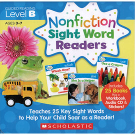 【科普類: 最佳字彙學習書】NONFICTION SIGHT WORD READER: LEVEL B /25書+CD