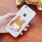韓國 短腿柯基 透明軟殼 手機殼│iPhone 5S SE 6 6S 7 8 Plus X XS MAX XR LG G5 G6 G7 V20 V30 V35 V40│z7732