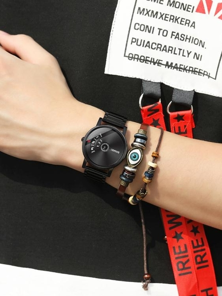 skmei無指針概念手錶男蟲洞學生機械男士潮流簡約石英錶新款  ATF  夏季新品
