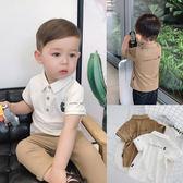 七夕全館85折 童裝1歲男寶寶夏裝短袖POLO衫翻領打底衫