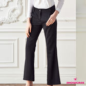 【SHOWCASE】直線顯瘦俐落剪裁素面長褲(黑)