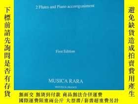 二手書博民逛書店老樂譜罕見f.busoni duo for 2 flutes a