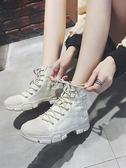 女式靴子 馬丁靴女新款英倫風厚底機車靴學生復古韓版百搭ins短靴 俏腳丫