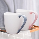 馬克杯 創意陶瓷喝水杯子個性馬克杯帶勺一對家用簡約大容量女 維多原創