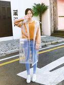 韓國時尚女透明雨衣成人徒步戶外旅行釣魚雨披男性      時尚教主