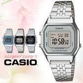 CASIO手錶專賣店 卡西歐 LA680WA-7D 女錶 電子錶 鬧鈴 數字顯示 不銹鋼錶帶