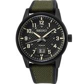【台南 時代鐘錶 SEIKO】精工 CS系列 軍風鬥士計時手錶 SUR325P1@6N76-00J0SD 黑/綠 41mm