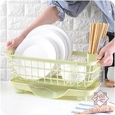 瀝水籃餐具收納架碗架多功能置物架【櫻桃川島】