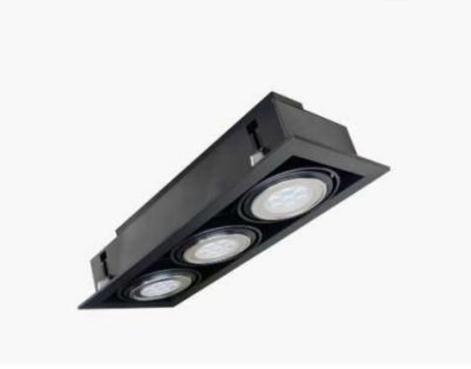 【燈王的店】LED AR111 7Wx3 崁燈 黑框 白光/黃光/自然光 TYL16B-7W