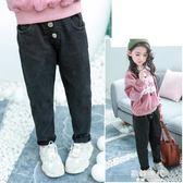 女童牛仔褲裝大童哈倫褲兒童寬鬆休閒褲加絨加厚褲子 歐韓時代