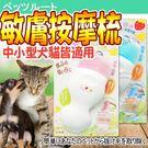 【培菓平價寵物網】Petz Route沛滋露》水果村系列敏膚按摩梳-中.小型犬貓用