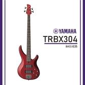 【非凡樂器】YAMAHA TRBX304/ 電貝斯套裝/公司貨保固/紅色