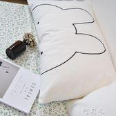 全棉白色刺繡純色枕頭套學生成人純棉北歐單人繡花枕套48X74cm 盯目家