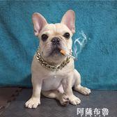 寵物項鏈 泰迪巴哥法斗狗狗金鏈子中小型犬項圈寵物項鏈飾品配飾掛件金鏈 阿薩布魯