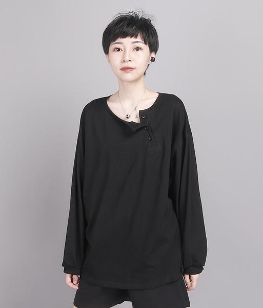 秋裝新款港風T恤寬鬆顯瘦慵懶風長袖上衣/設計家