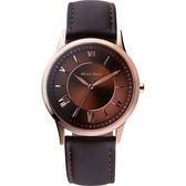 Relax Time RT58 經典學院風格腕錶-咖啡/36mm RT-58-11L