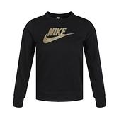Nike G NSW Shine FT Crew Q5 童裝 黑 棉質 休閒 長袖 CU8518-010