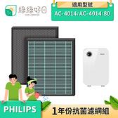 綠綠好日 抗菌 HEPA 濾芯 蜂巢顆粒 濾網 適 Philips 飛利浦 AC4014 AC4014/80 空氣清淨機