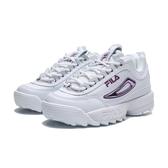 FILA DISRUPTOR 2 II  鋸齒 白紫 復古 老爹鞋 鋸齒鞋 女(布魯克林) 5C608T153