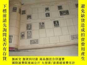 二手書博民逛書店1935年版精裝本外國郵票(稅票)圖樣一本:POSTAGE罕見STAMP ALBUM【稀見,難得的資料