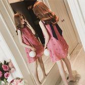 細肩帶連身裙洋裝夏季新款ins超火的連身裙女小清新娃娃裙顯瘦無袖背心裙子潮