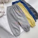 兒童秋裝棉質運動褲男童寶寶休閑長褲女童蘿卜褲多色【聚可愛】