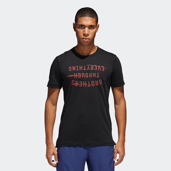 Adidas Harden Slogan Tee [CD7511] 男 圓領 短袖 運動 休閒 舒適 棉T 愛迪達 黑