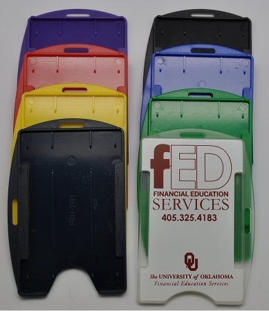 直/橫兩用 彩色[單卡] 硬式識別證套 (10入) PBH-2W1 //全店商品無條件退換貨//