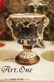 ART ONE 居家設計館 AR09724義式羅馬銀色冠軍杯造型擺飾17*27cm