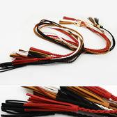 腰繩皮帶編織流蘇可拆卸金屬環釦腰繩腰帶~FJS5 5 ~BOBI 10 12