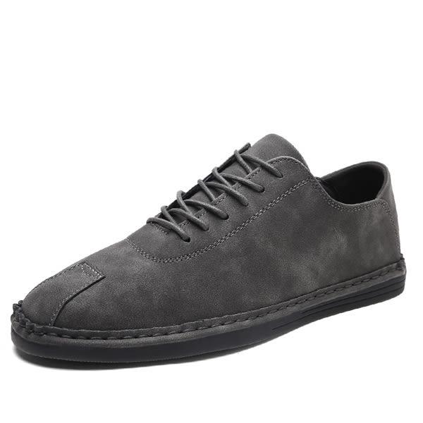 英倫風系帶休閒鞋 韓版男板鞋【非凡上品】nx1605