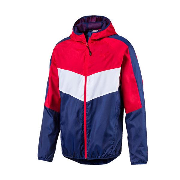 *PUMA Power Vent 透氣風衣運動外套 紅藍 594576-10 男