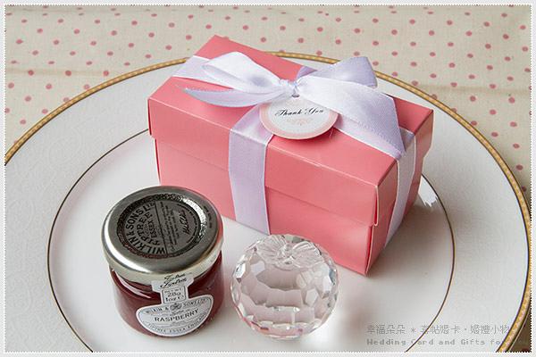 Double Love Pink盒「水晶蘋果+果醬」二入禮盒.甜蜜佈置.結婚婚禮小物.禮品.贈品
