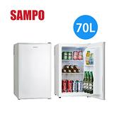 【佳麗寶】【來電享加碼折扣】SAMPO 聲寶 70公升 電子冷藏箱冰箱 KR-UA70C